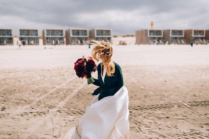 Extensions für Hochzeitsfrisuren mit langen Haaren, Keratin-Bonding-Methode