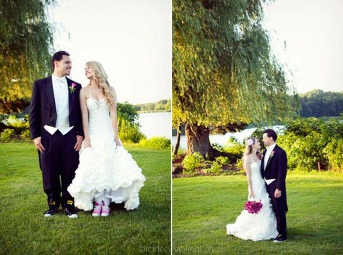tenis converse para novia el día de la boda