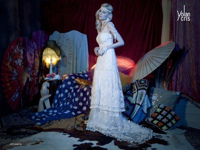 Vestido de novia corte imperio, Yolan Cris 2012