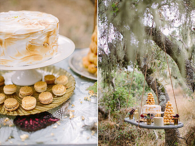 Inspiración para una boda en pleno frío con una decoración rústica chic. Danielle Capito