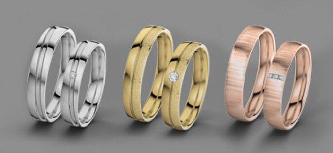 Sie wählen das Material Ihres Ringes aus. Foto: 21Diamonds