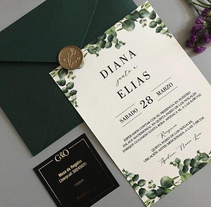 Erika Robledo Sociales invitaciones de boda Monterrey