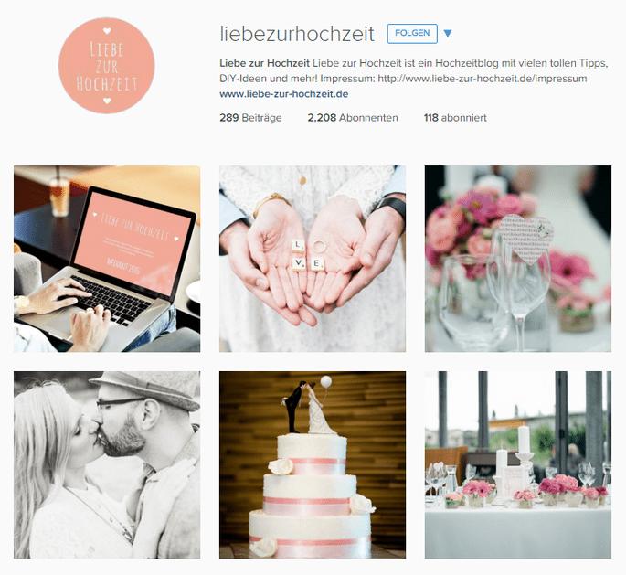 Imagen vía Instagram Liebe zur Hochzeit