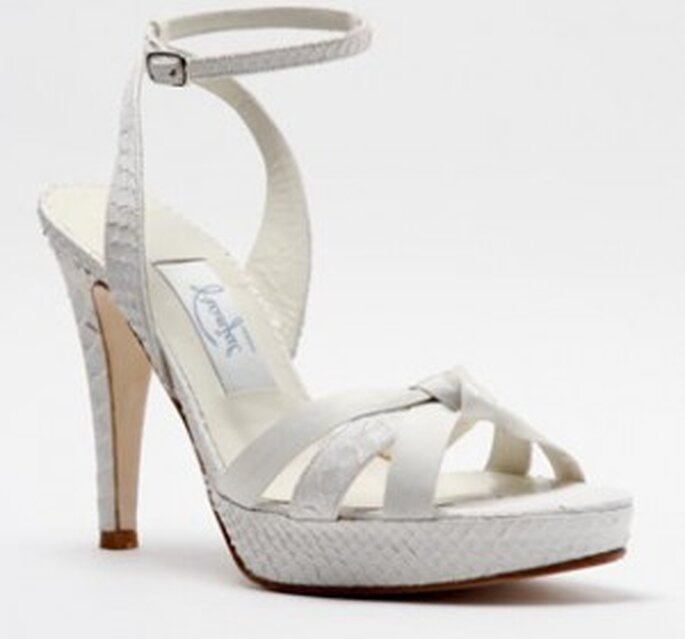Sandalia para novia de la firma Franjul.