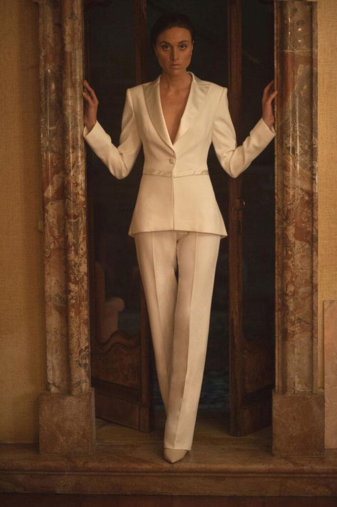 Modello Bianca. Foto via La nuova Sartoria