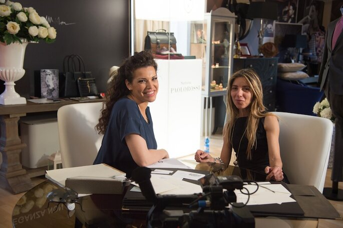 Amalia con Graziella di Grafica Acquaviva - Foto Michele Dell'Utri