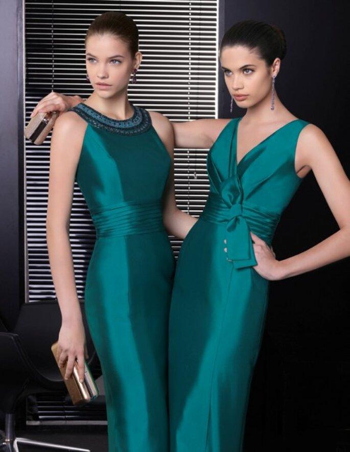 Vestidos de fiesta en color verde esmeralda para una boda en 2013 - Foto Rosa Clará