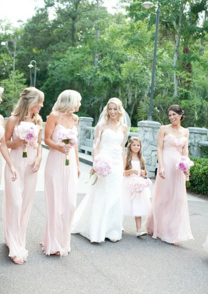 Una dulce boda en color rosa. Foto: Style me pretty