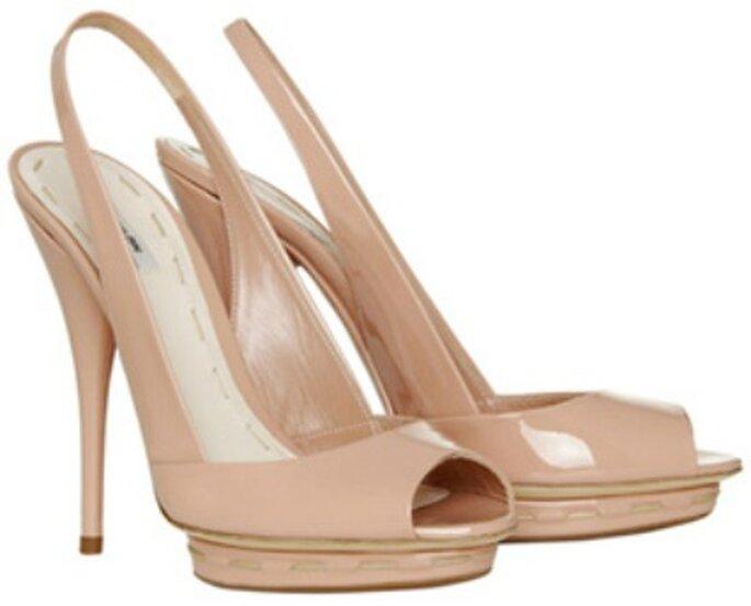 Chaussures de mariée nude à talons hauts de Miu Miu