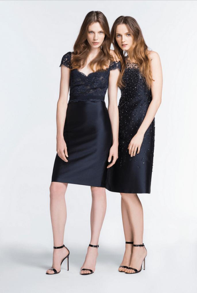 Vestidos de fiesta 2014 en color negro para una boda elegante - Foto Reem Acra