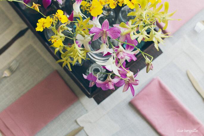 Flores para mesa de convidados