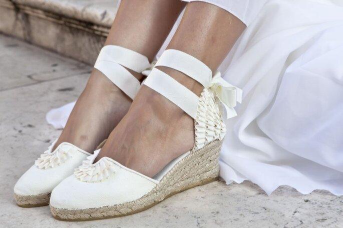 Que zapatos usar con vestido de novia