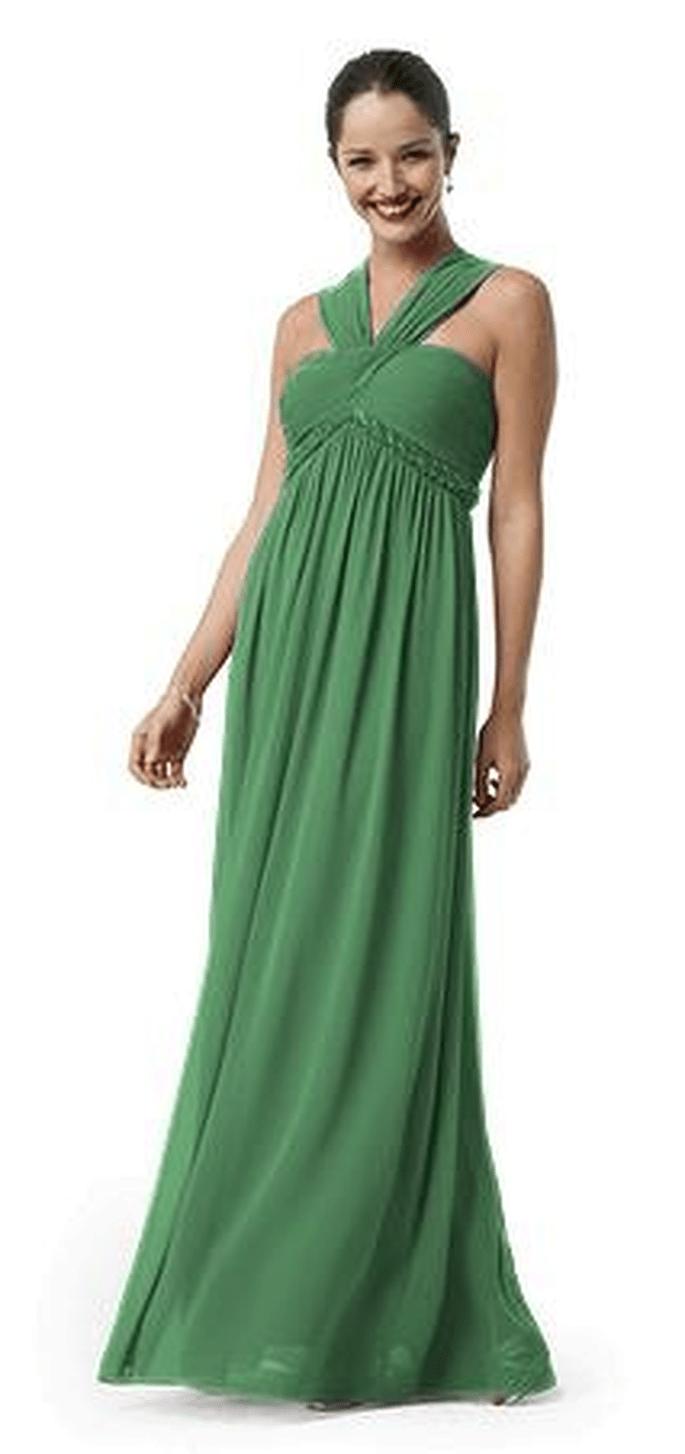 David's Bridal Long Chiffon Beaded Gown - Style 21161, $155.