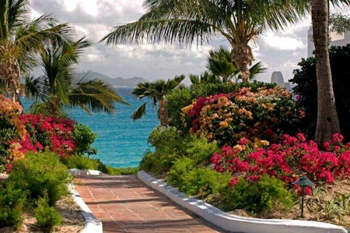 Giardini curatissimi al Cap Juluca di Anguilla
