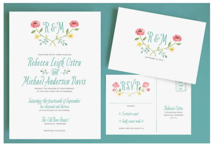 Invitaciones de boda súper originales - Foto Leveret Paperie