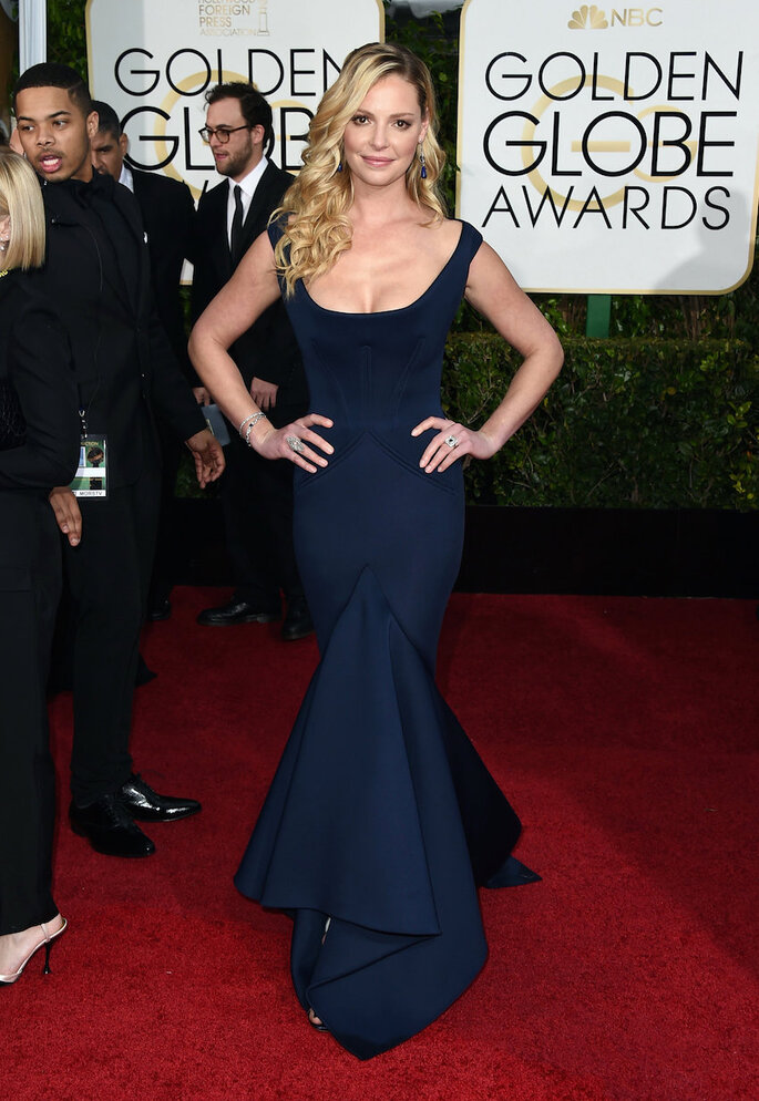 Las mejor vestidas de los Golden Globe Awards 2015 - Zac Posen (Katherine Heigl)