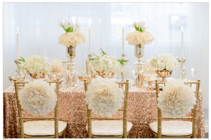 #MartesDeBodas: Una decoración de boda en color rose gold - Foto ENV Photography