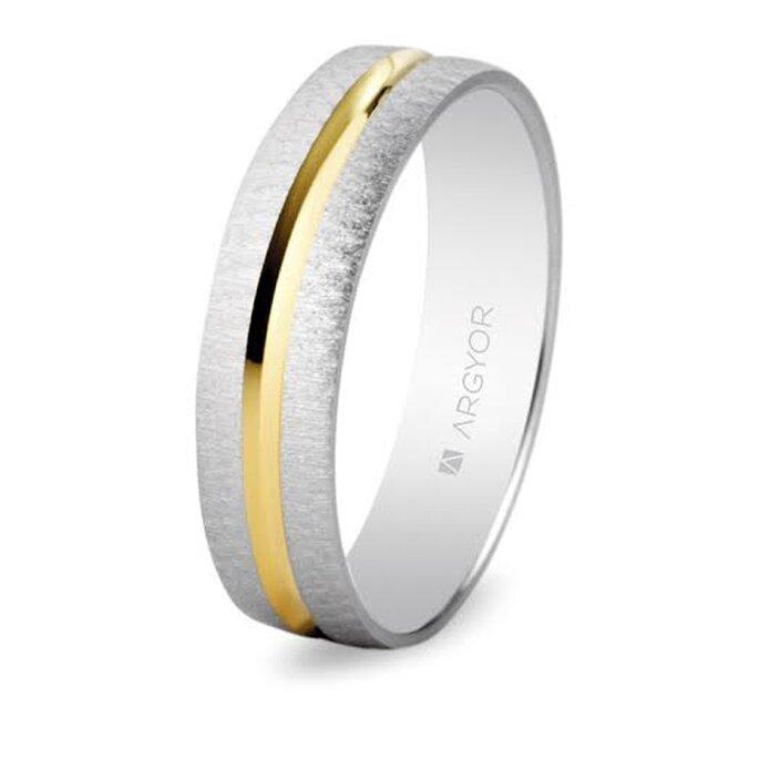 Alianza de boda en oro bicolor - Foto Argyor