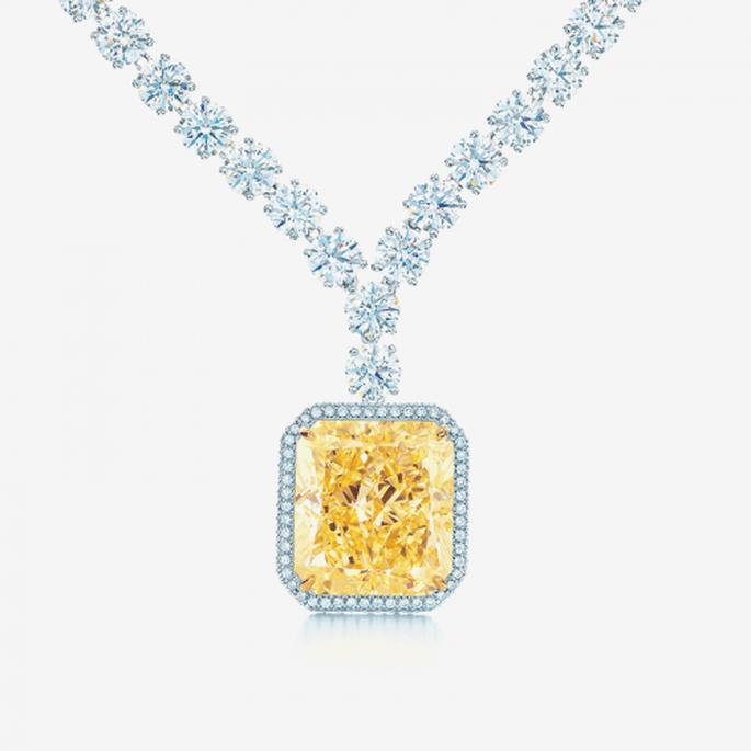 Collar de diamantes con piedra preciosa en color amarillo - Foto Tiffany & Co.
