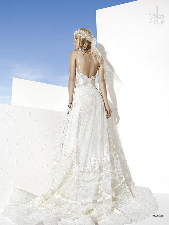 Vestido de novia Manises de YolanCris. Detalle de la espalda. Foto: www.yolancris.es