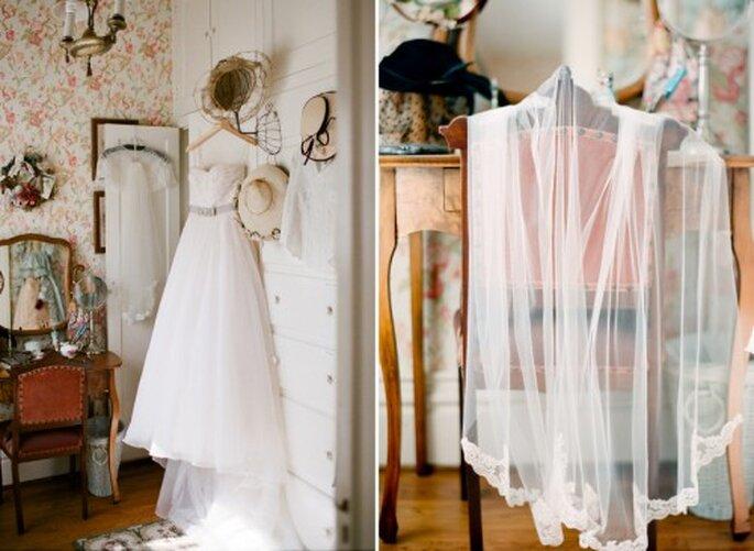 Decoración de una novia con estilo clásico - Foto Jen Lynne