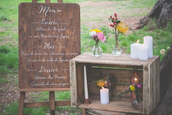 Présentation menu de mariage buffet