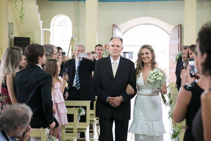 Noiva e o pai