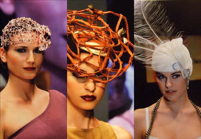 Tres diseños de Manuela de los Santos. FOTOS: Manolo Navarro