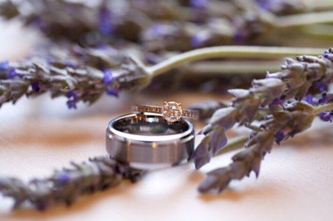 Decoración de boda con hierbas de olor - Foto