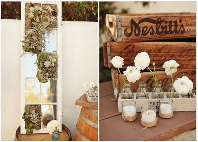 Decoración original para una boda vintage - Foto Matthew Morgan Photography