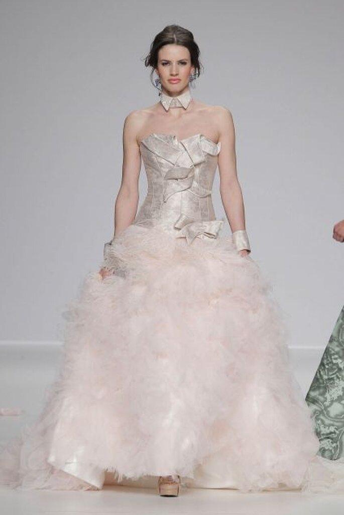 vestidos de novia en colores pasteles