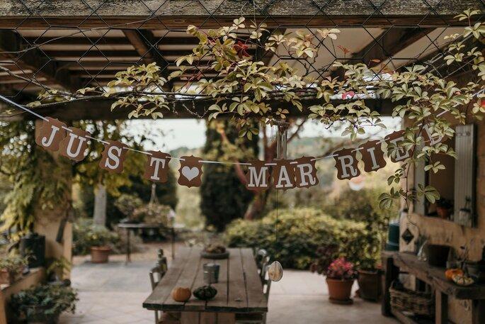La jolie décoration végétale du lieu de réception