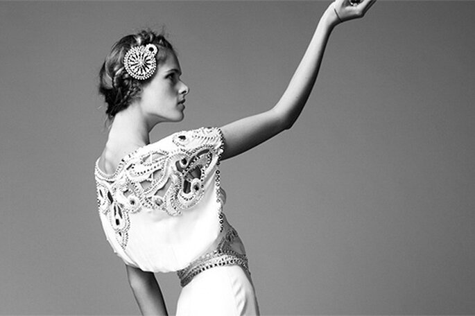 Vestido de novia estilo años 40. Foto: Temperley London