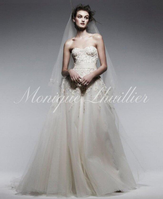 ¿Cómo puedo escoger mi vestido de novia? - Foto Monique Lhuillier Facebook