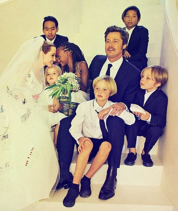 Photo: Wedding Brad Pitt and Angelina Jolie, via Tumblr