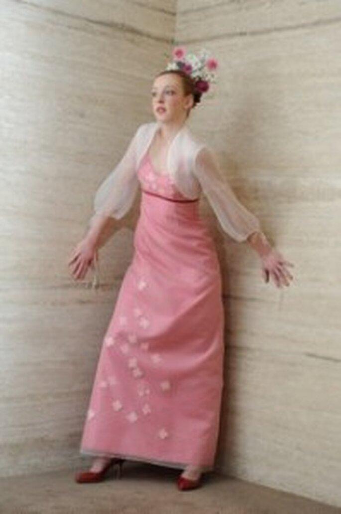 Rosa Brautkleid von Marion Muck
