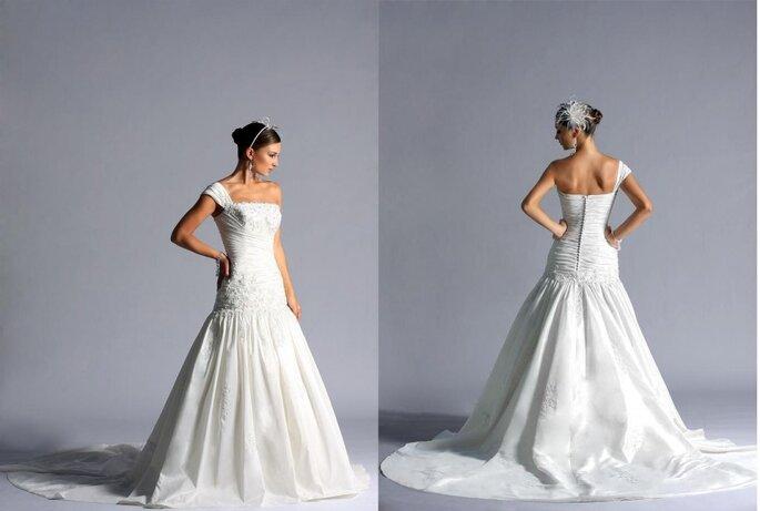 Essence 2011, original vestido de novia con un sólo tirante