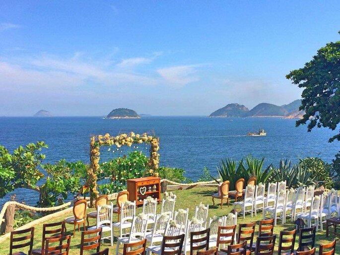 A qualquer hora do dia o casamento vai ser congratulado pela linda vista