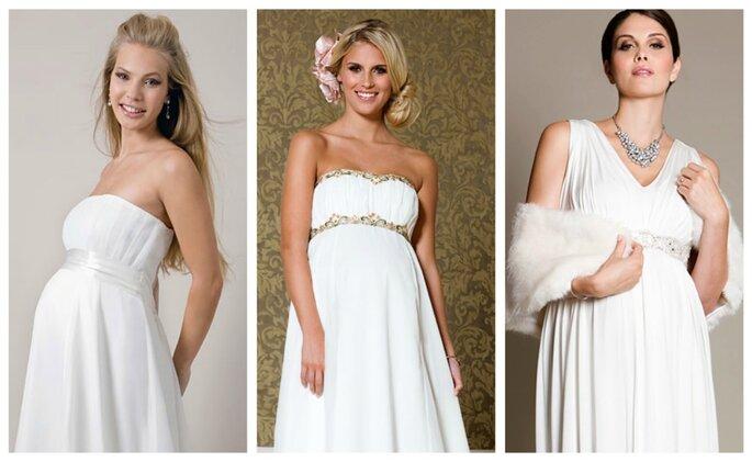 Diferentes modelos de vestidos para embarazadas de Tiffany Rose- Fotos: Tiffany Rose