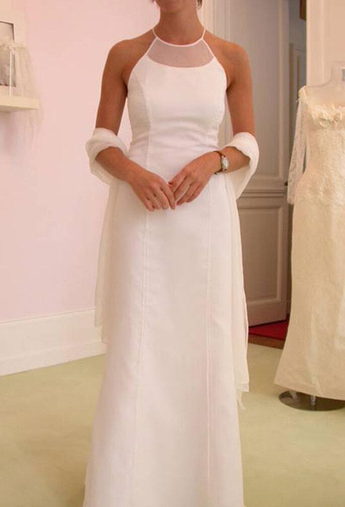 Robe de mariée Géraldine Lemonnier-Leblanc - Création sur-mesure, robe en mousseline de soie