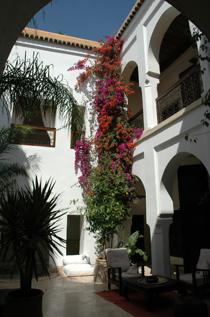 Terrasse et patio du Riad Mabrouka Marrakech