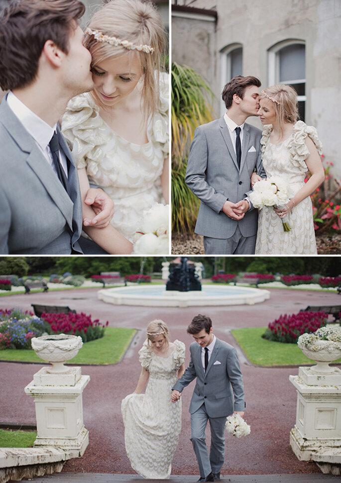 Detalles en color gris para tu outfit de boda - Foto Benjamin and Elise Photography