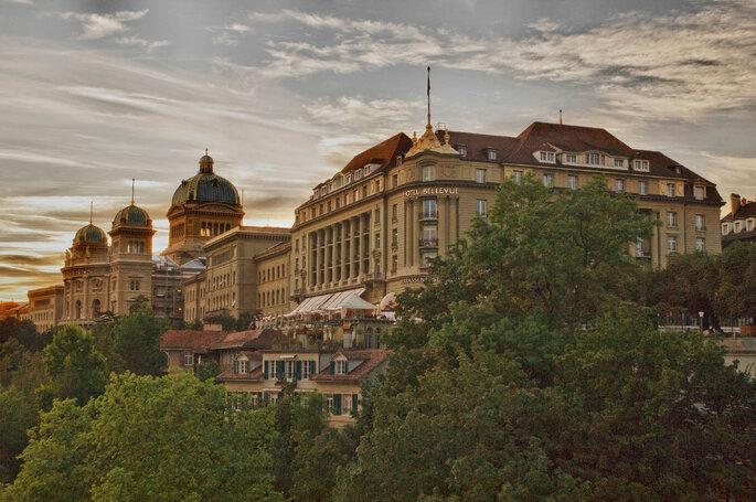 Außenansicht, Foto: Bellevue Palace Bern