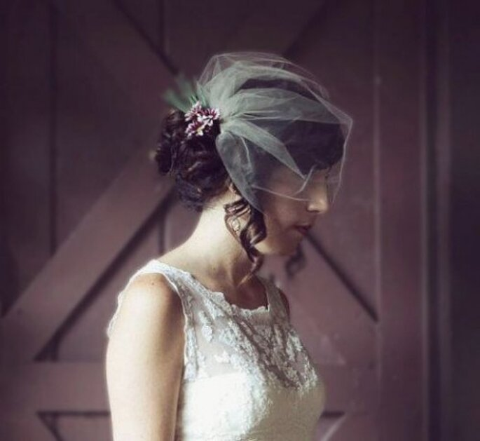 Souffle bohème rétro sur les voiles de mariée 2014 - Crédits photos: Etsy