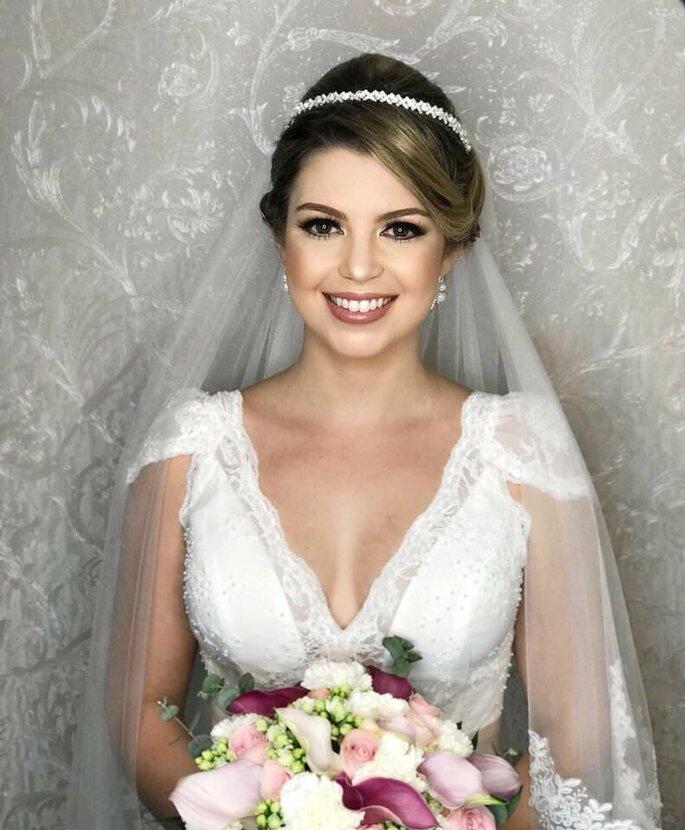 Coleção prêt à porter que a noiva pode provar, assim ela consegue ver qual corte fica melhor com o seu biotipo