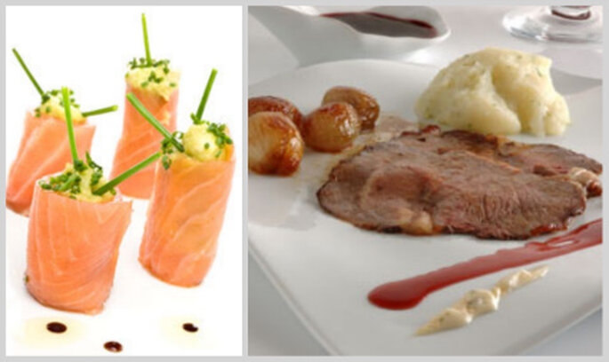 Rollitos de salmón y rosbif estarán en el menú de la boda de Kate Middleton y Guillermo