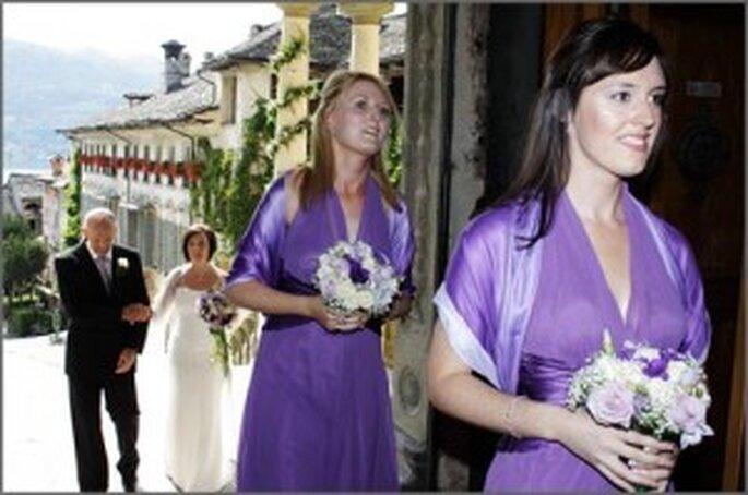 Damigelle in viola - Lago Maggiore Sposi