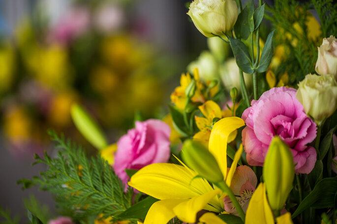Flores para decoração do casamento