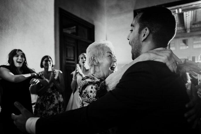 Foto de casamento espontânea