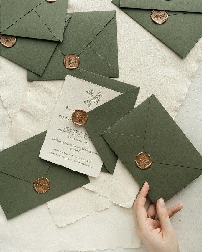 sobres elegantes para invitaciones de bodas